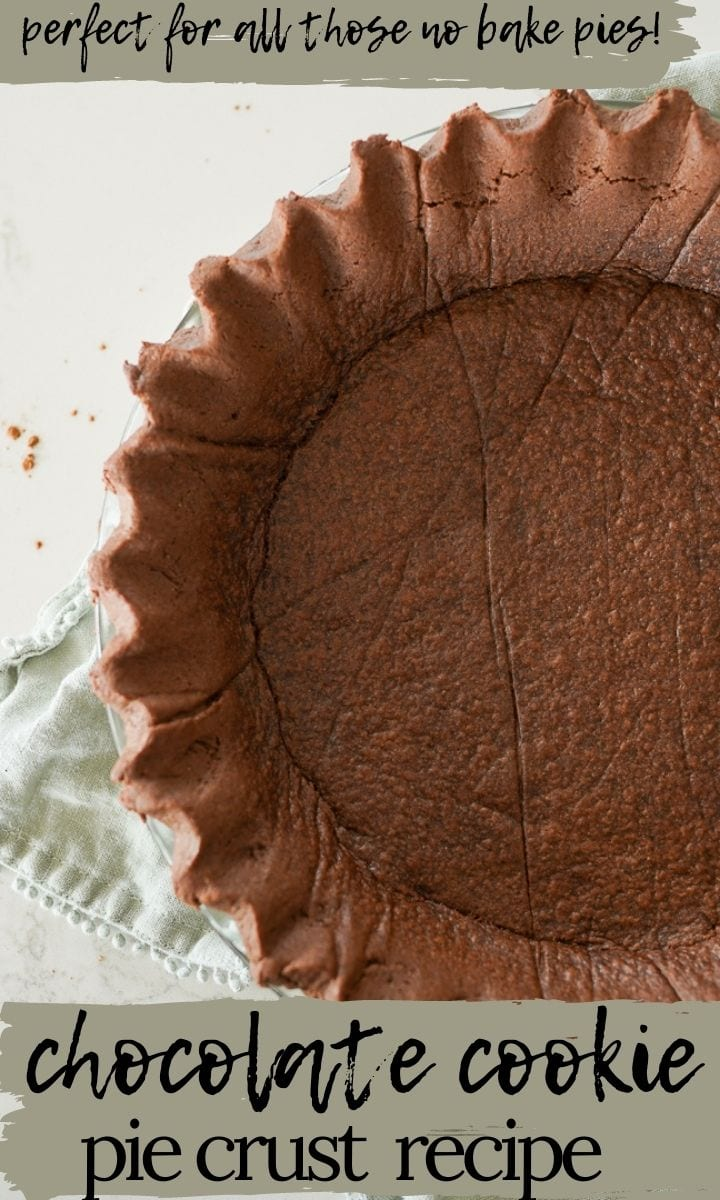 pin image for chocolate pie crust
