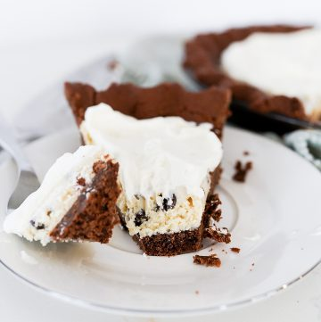 cookie dough pie with chocolate crust