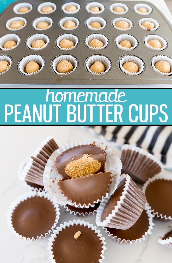 Pin image for peanut butter cups recipe