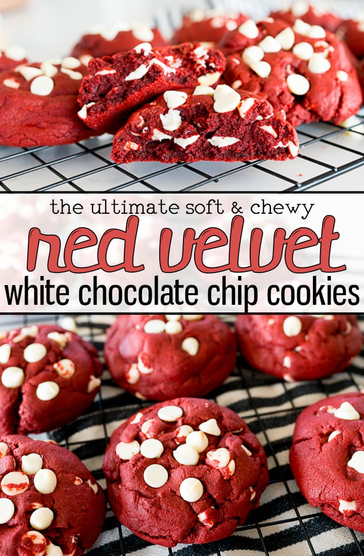 pin image for  red velvet cookies