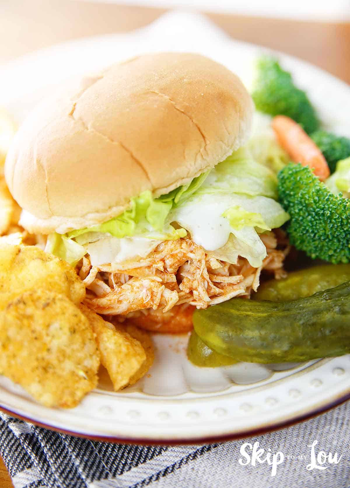 instant pot buffalo chicken sandwich