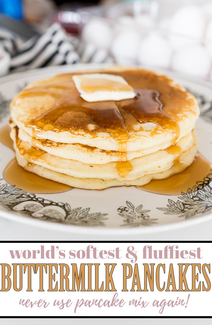 pin image for buttermilk pancakes