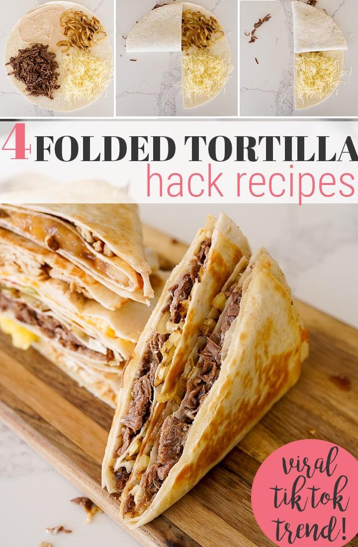 pin image for tortilla folding hack
