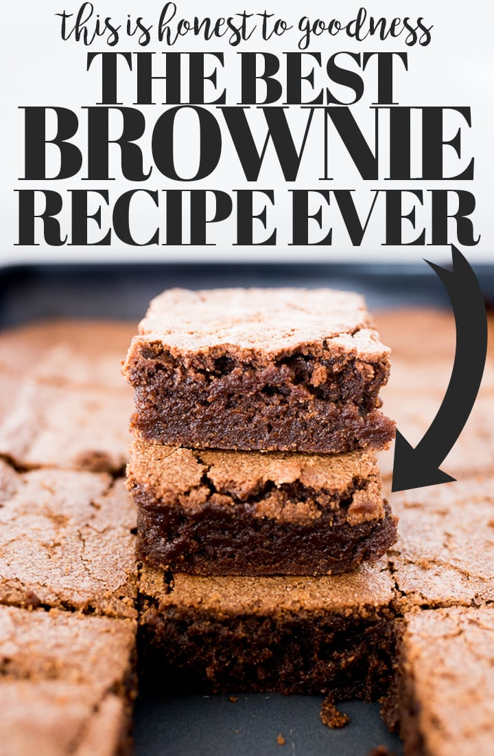 Pin image for brownie recipe