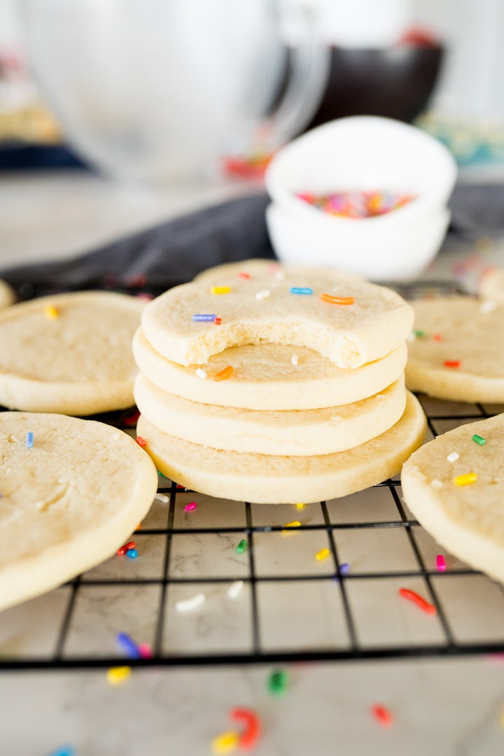 Easy Sugar cookies the don't require rolling and cutting