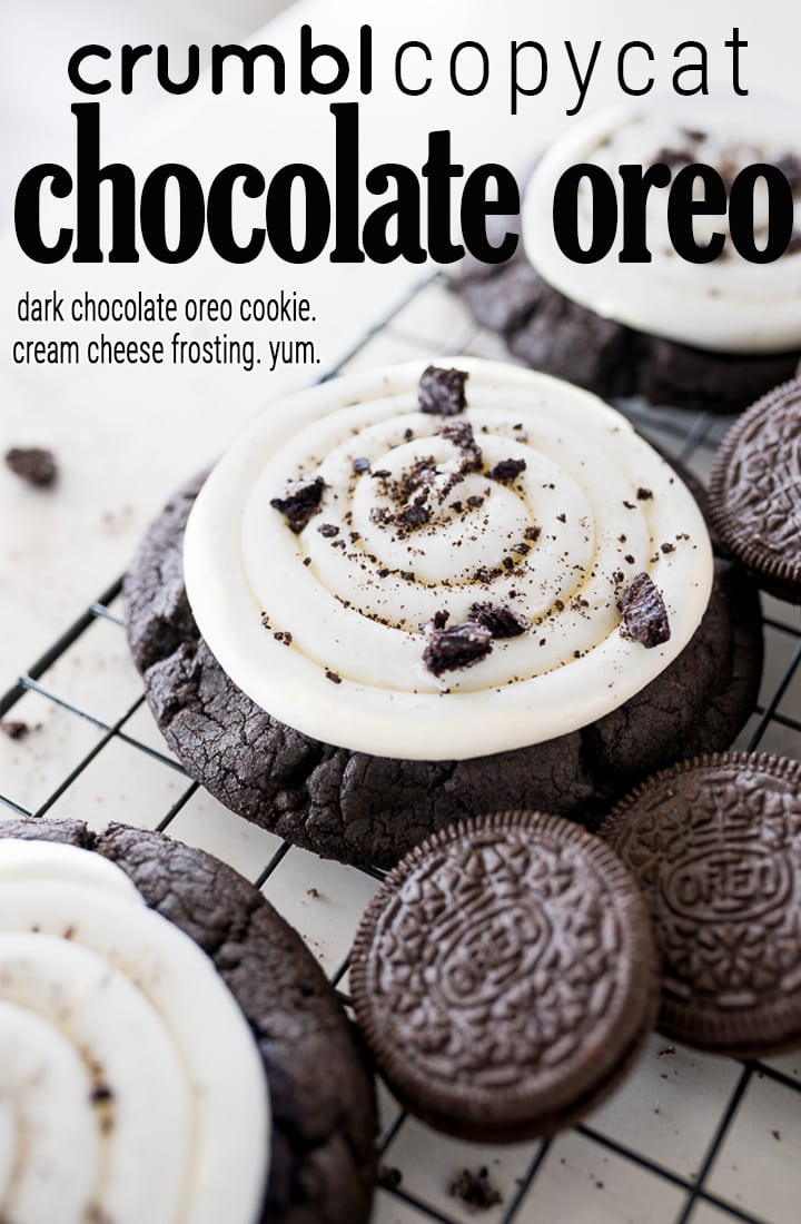 Pin image for crumbl Oreo cookie