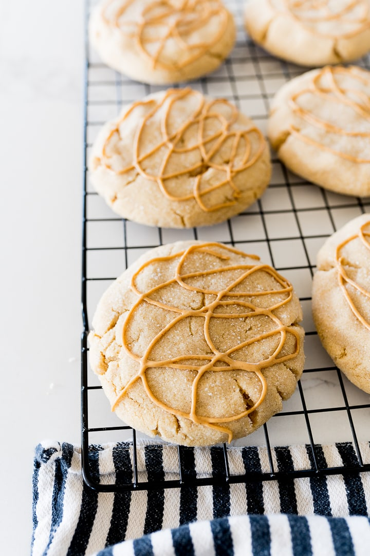 Ultimate Peanut Butter Cookie on a cooling rack