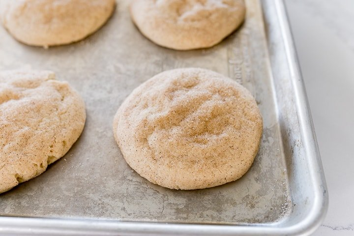 snickerdoodle cookies right out of the oven