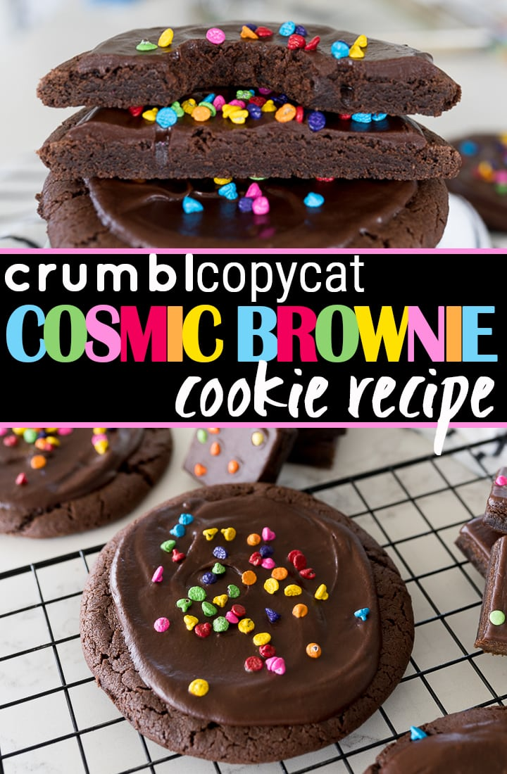 pin image for Crumbl cosmic brownie cookies