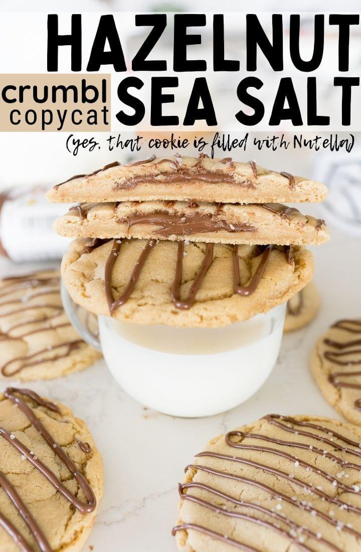 Pin image for hazelnut sea salt cookie