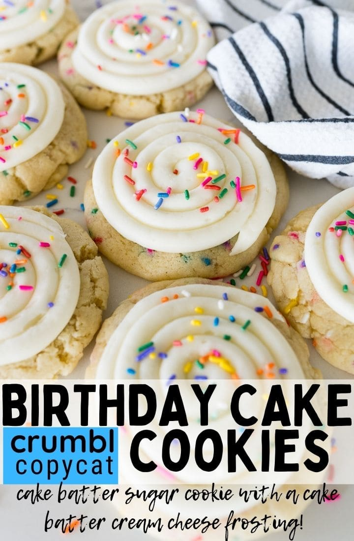 pin image for birthday cake cookies