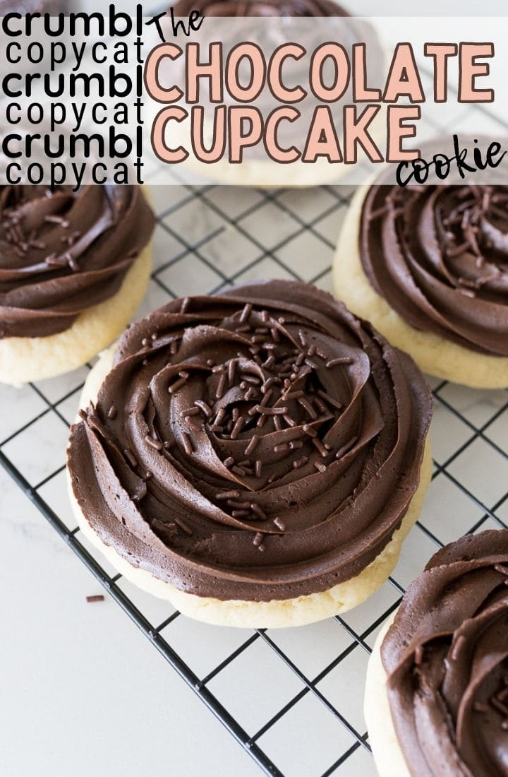 pin image for chocolate cupcake cookies
