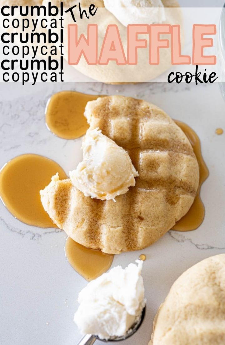 pin image for crumbl copycat waffle cookie