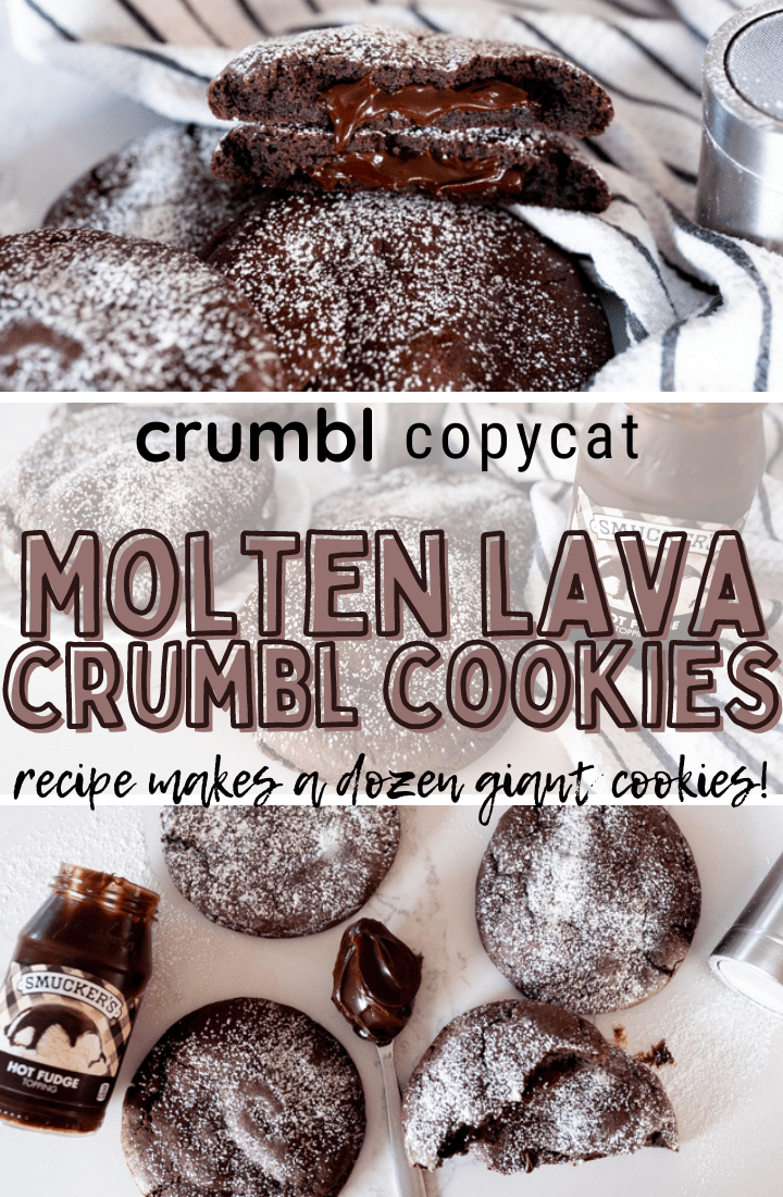 pin image for molten lava cookies