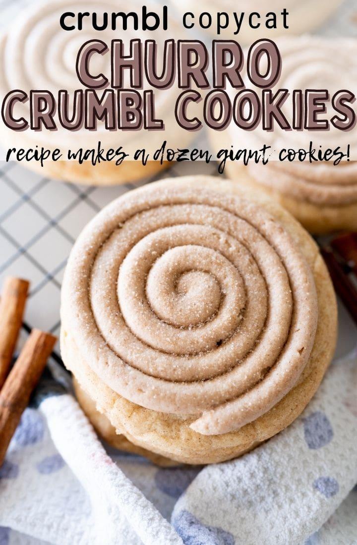 pin image for churro cookies
